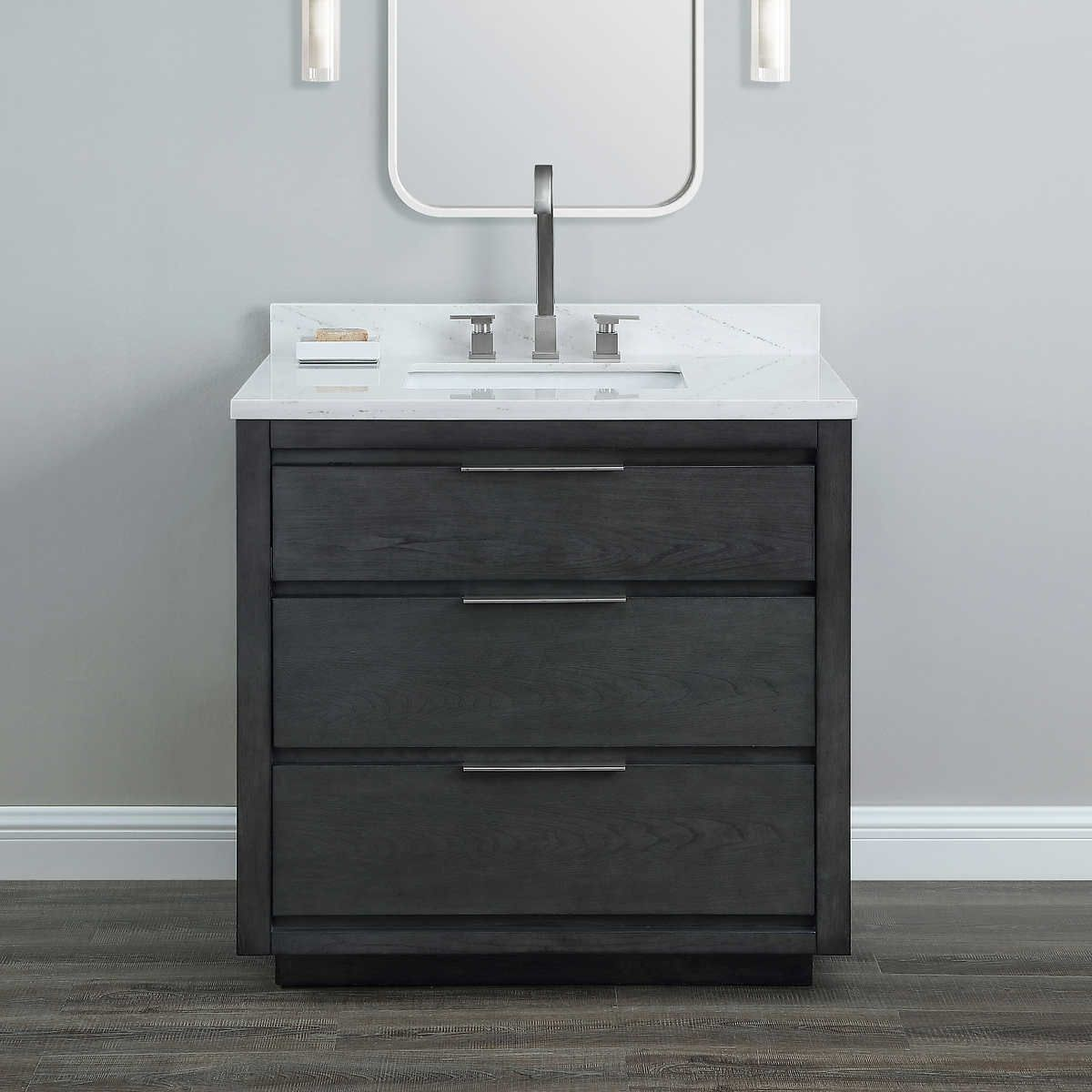 Best Midtown Storm Gray 36 Vanity By Mission Hills With 400 x 300