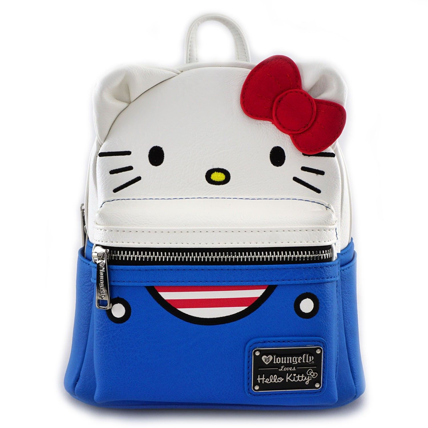 3d4c6271b621 Loungefly x Hello Kitty Overalls Mini Faux Leather Backpack - Hello Sanrio  - Brands