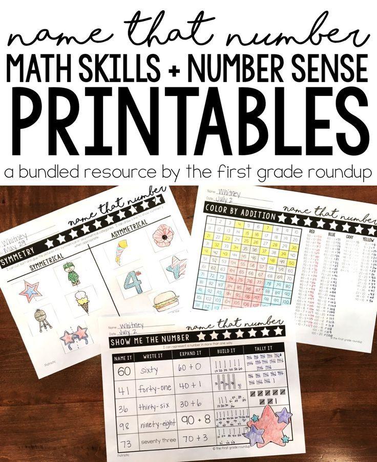 Math Worksheets for First Grade BUNDLE | Math skills, Morning work ...