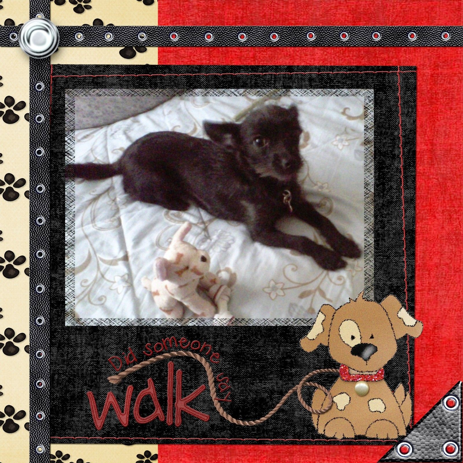 Dog Grooming Scrapbook Pages