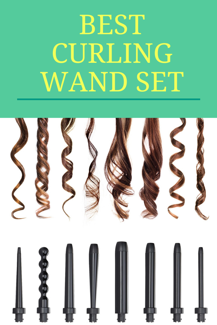 Best Curling Wand Set Nume Octowand In 2020 Curling Wand Set Wand Curls Curling Hair With Wand