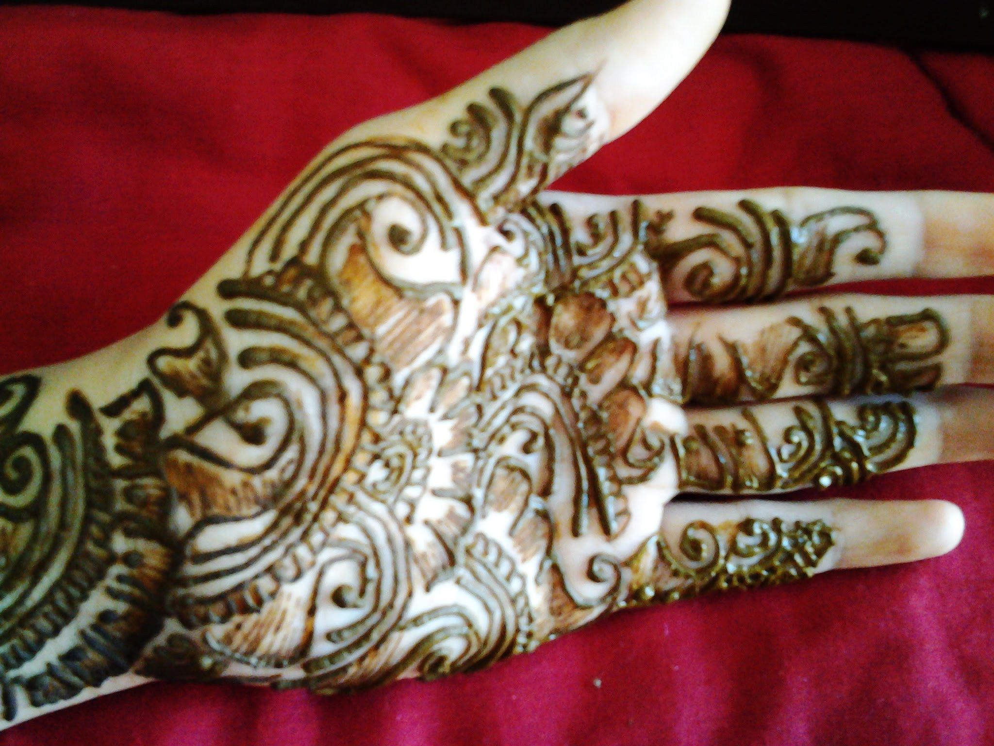 Simple Mehndi Tattoo Hands : Arabic simple henna latest mehndi design how to apply