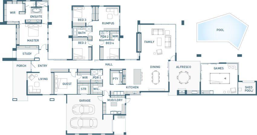 5 bedroom house floor plans. floor plan 5 bedroom with wings  Floor Plans Pinterest