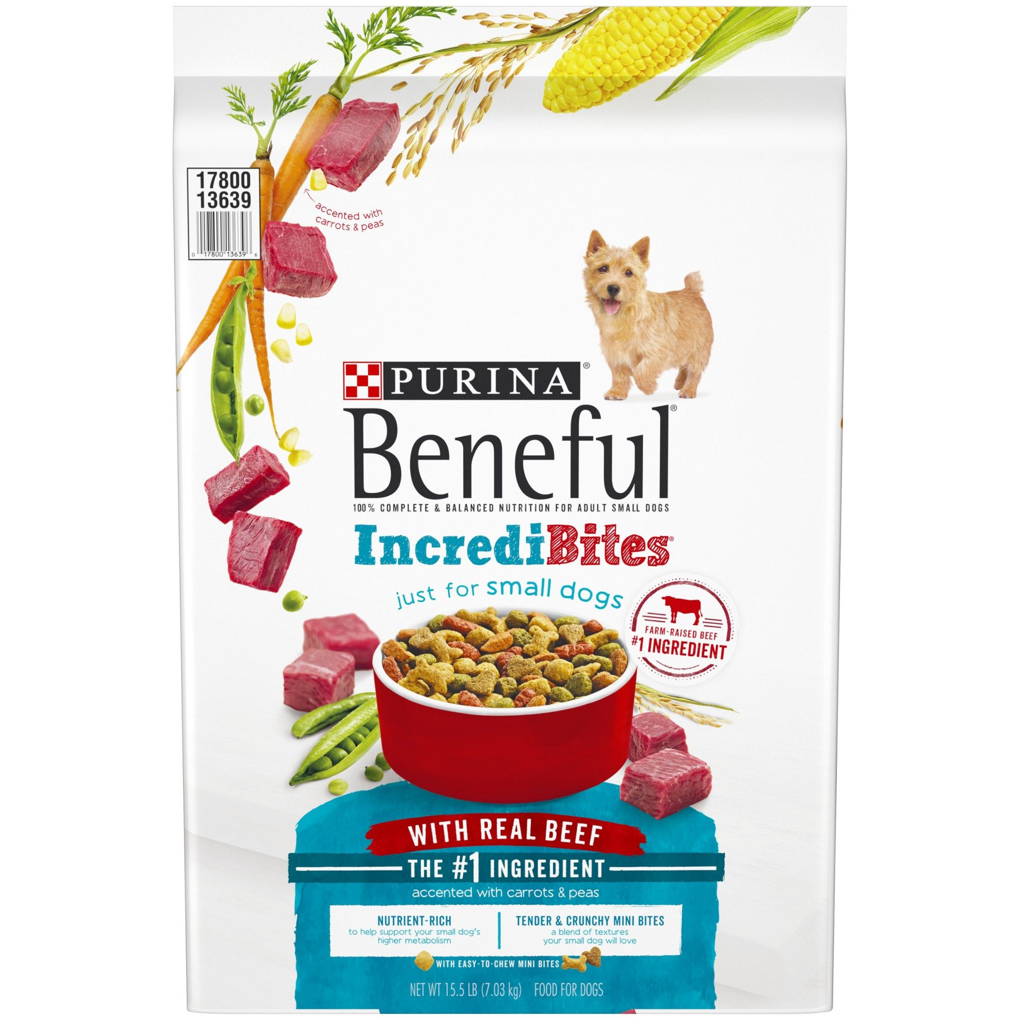 Purina Beneful Incredibites With Real Beef Dry Dog Food 15 5lbs