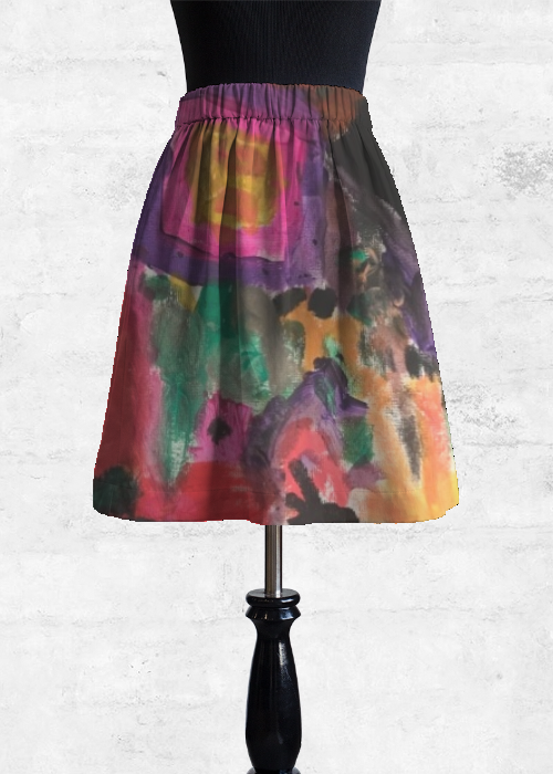 Purchase Cupro Skirt - Doodle Art by VIDA VIDA Free Shipping Enjoy 2018 Sale Online Bcowit