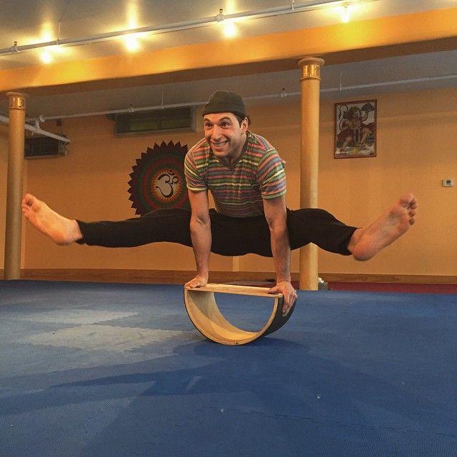 The Dharma Yoga Half Wheel - http://www.dharmayogawheel.com/