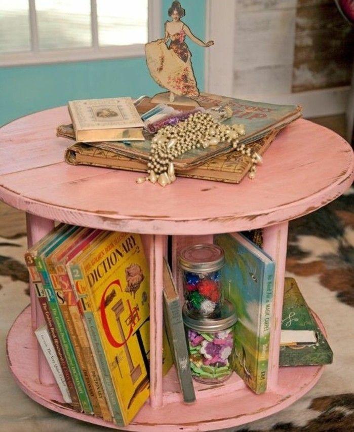 1001 id es que faire avec un touret des inspirations r cup creation dyi pinterest. Black Bedroom Furniture Sets. Home Design Ideas