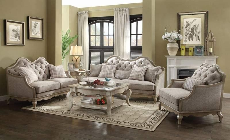 Best Acme Furniture Chelmsford 3 Piece Living Room Set 400 x 300