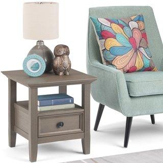 Fabulous Wyndenhall Halifax End Side Table Dark Walnut Brown In Camellatalisay Diy Chair Ideas Camellatalisaycom
