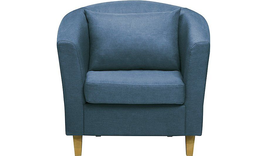 George Home Kerry Tub Armchair Blue, Read Reviews And Buy Online At George  At ASDA