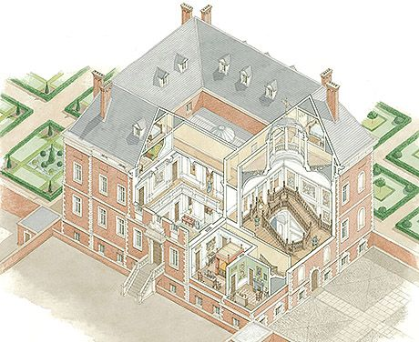 This cutaway reconstruction shows Sir Robert Henley\u0027s house as it