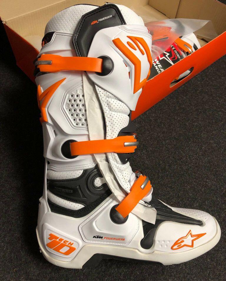Ebay Sponsored 0561 Ktm Tech 10 Boots Crossstiefel Motocross Alpinestars Gr 8 42 Enduro