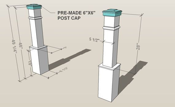 Remodelaholic How We Built Our Custom Newel Posts Tutorial Diy Stairs Newel Posts Building Stairs
