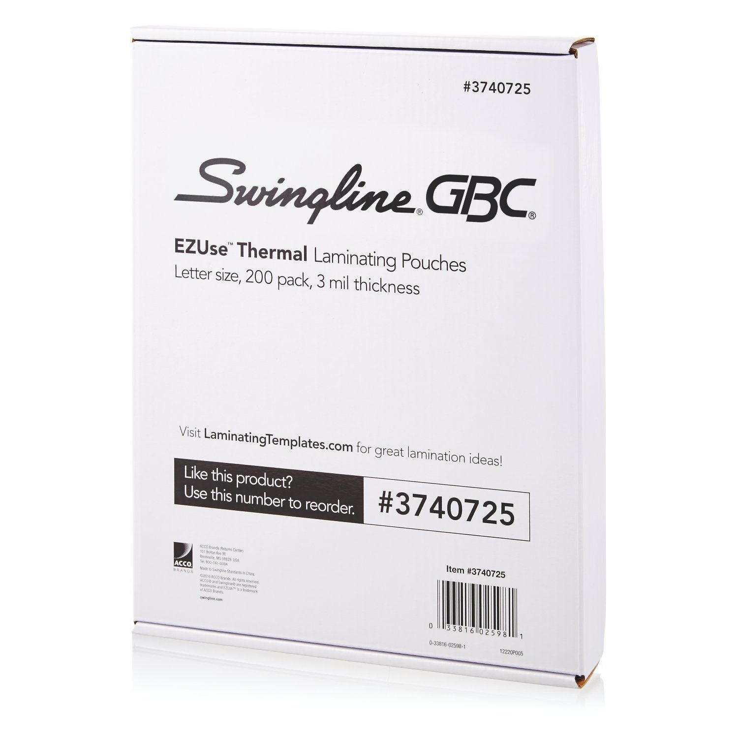 Swingline Gbc Thermal Laminating Sheets Pouches Letter Size 3 Mil Ezuse 100 Count 3740725 To View Further For This Letter Size Lettering Glue Crafts