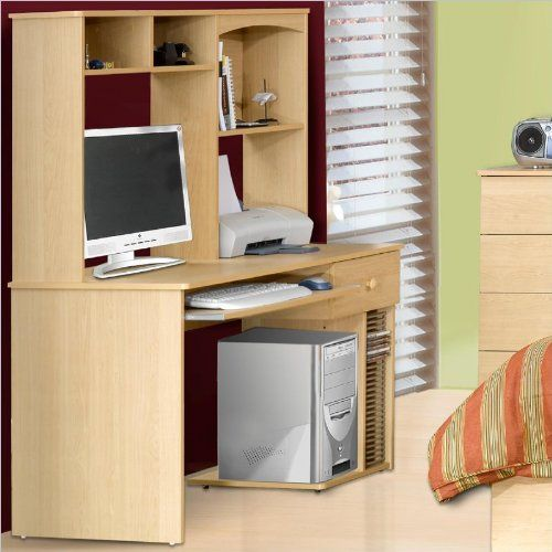 Alegria Natural Maple Student Computer Desk Hutch For Only 225 95 You Save 138 05 38