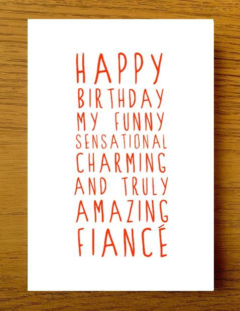 sweet description happy birthday fiance card
