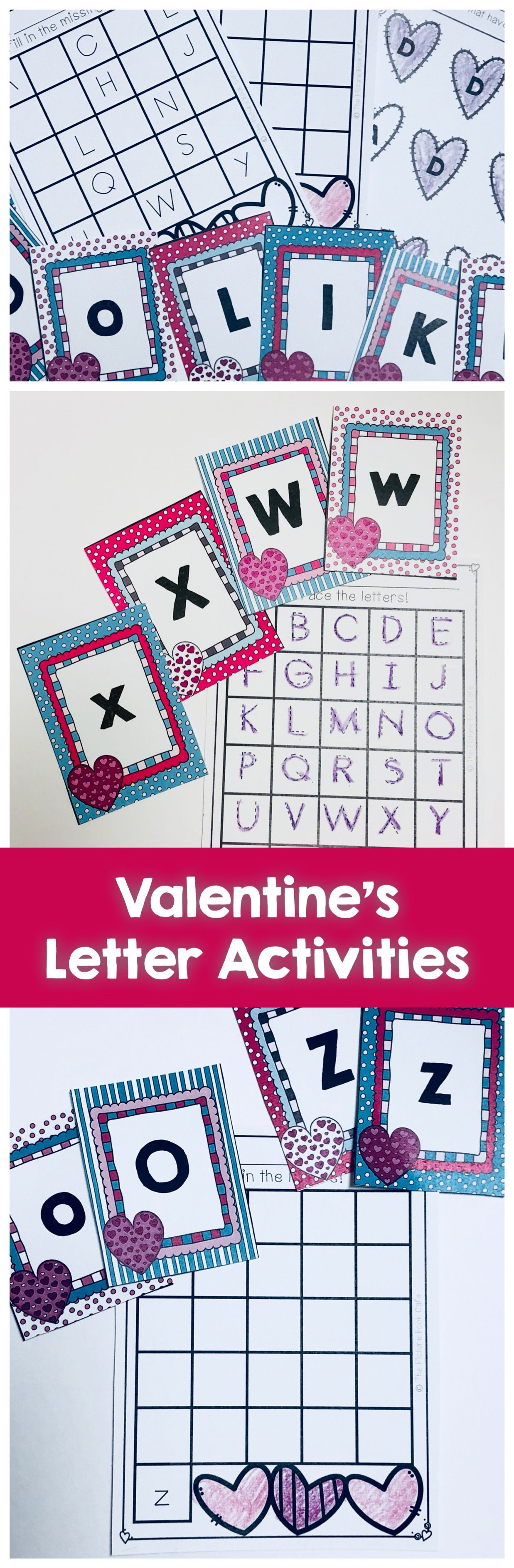 Valentine S Letter Matching Activities Include All Letters