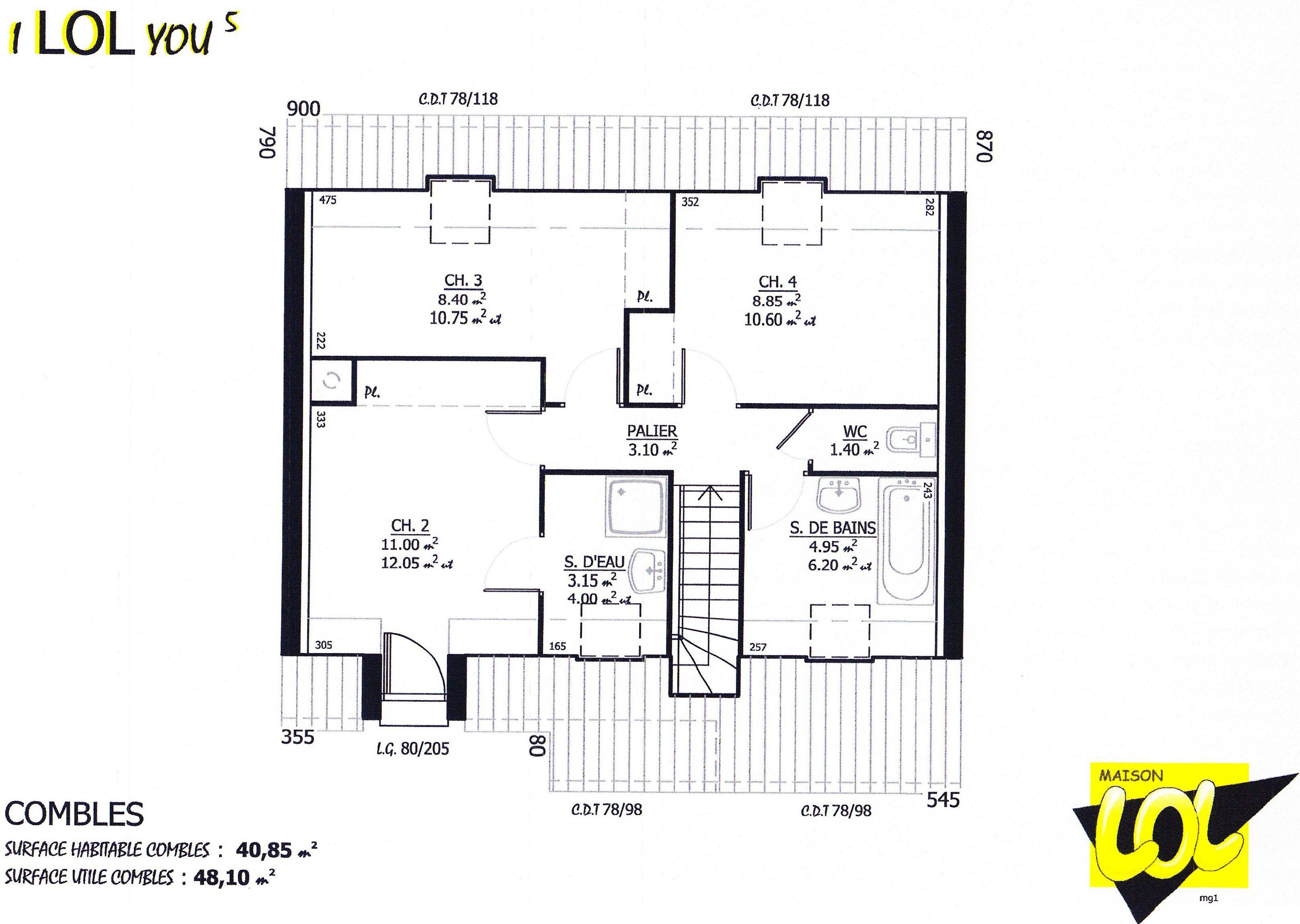Maison ilolyou maison lol 122323 euros 100 3 m2 for Plan de maison a construire