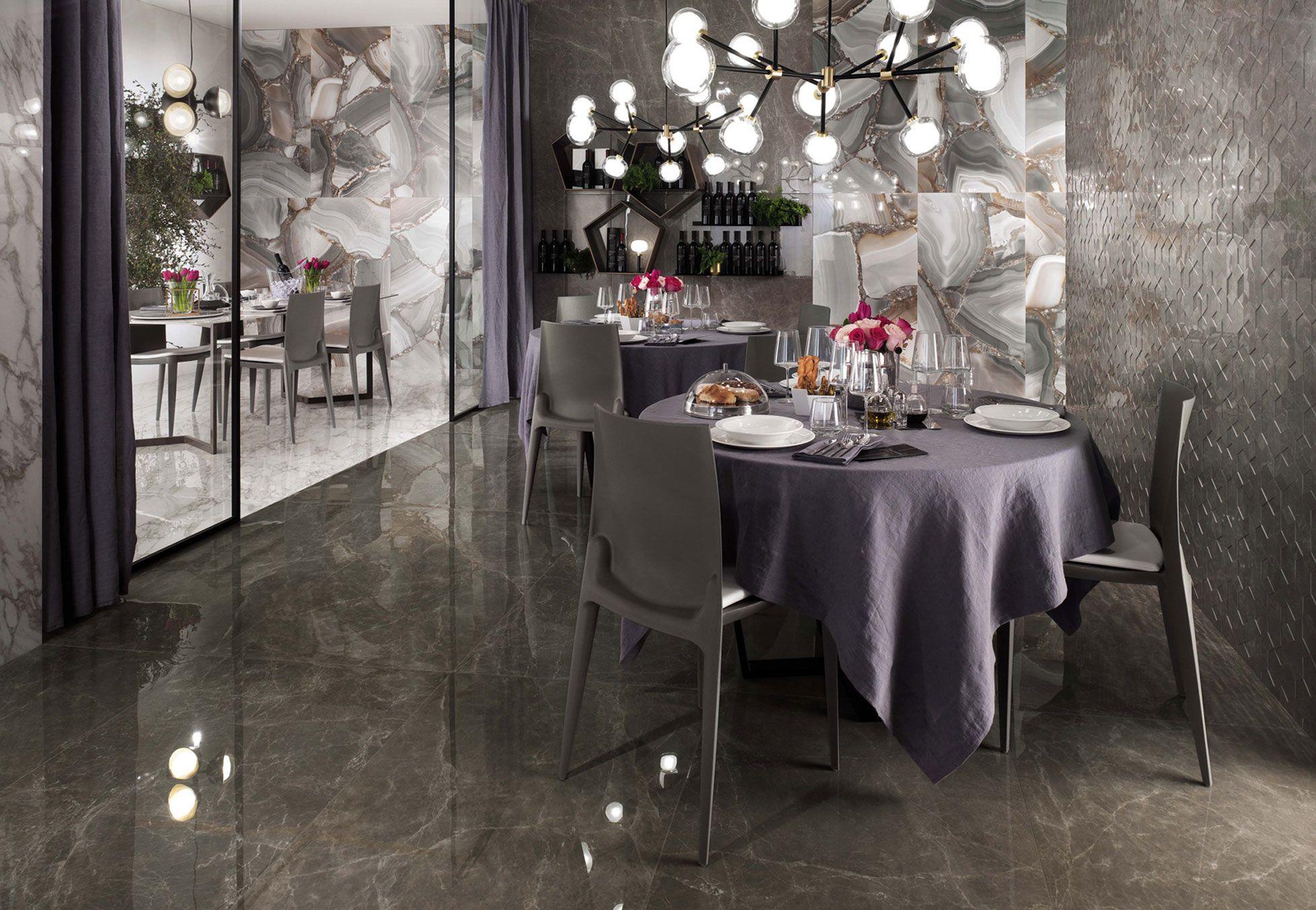 Marvel Edge Gris Supreme Wall Tiles Marble Look Tile Home Decor