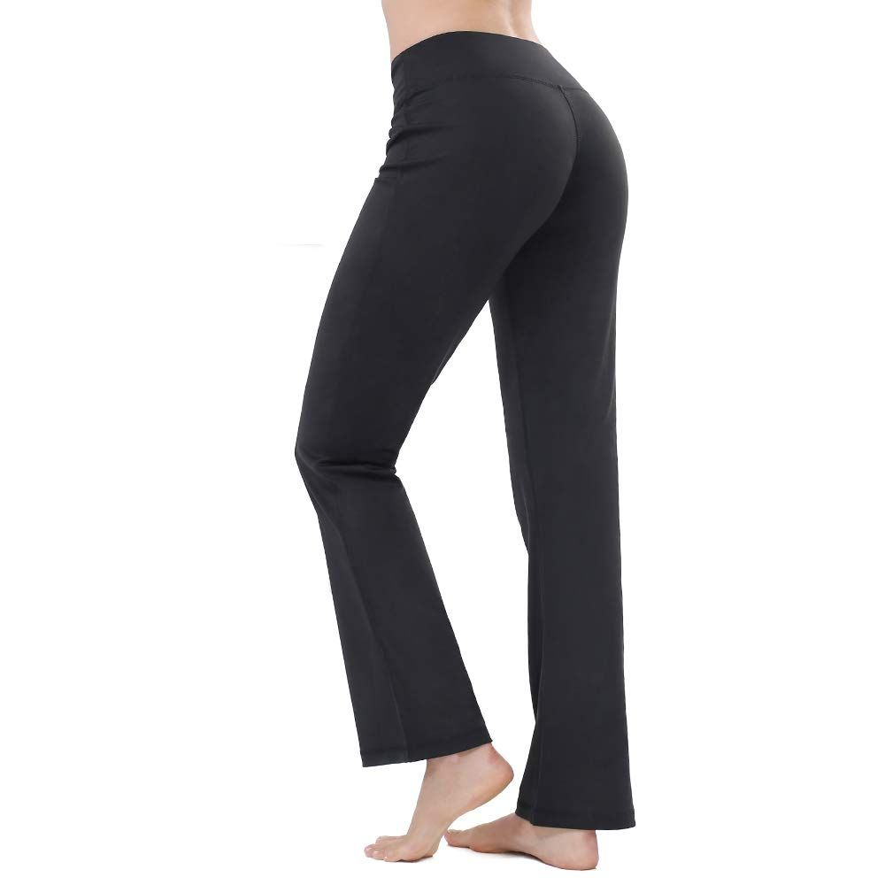Womens Bootcut Tall High Waisted Yoga Pants Stretch Bootleg Workout Pants with Pocket