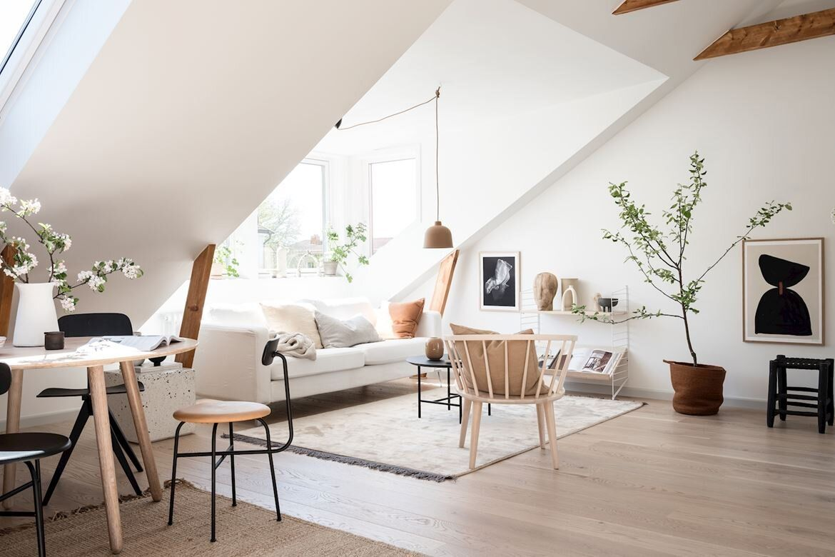 Photo of A Scandinavian Attic Apartment with Plenty of Natural Light