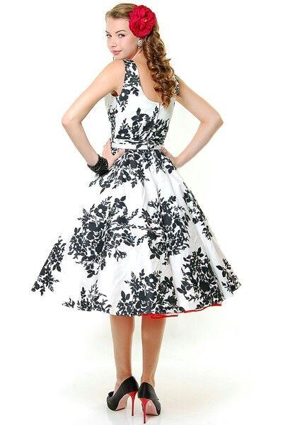 Http Www Unique Vintage Com Black White Blanc Noir Fleur Scoop Neck Belted Swing Dress P 13351 Html Utm Unique Vintage Prom Dress Vintage Dresses Swing Dress