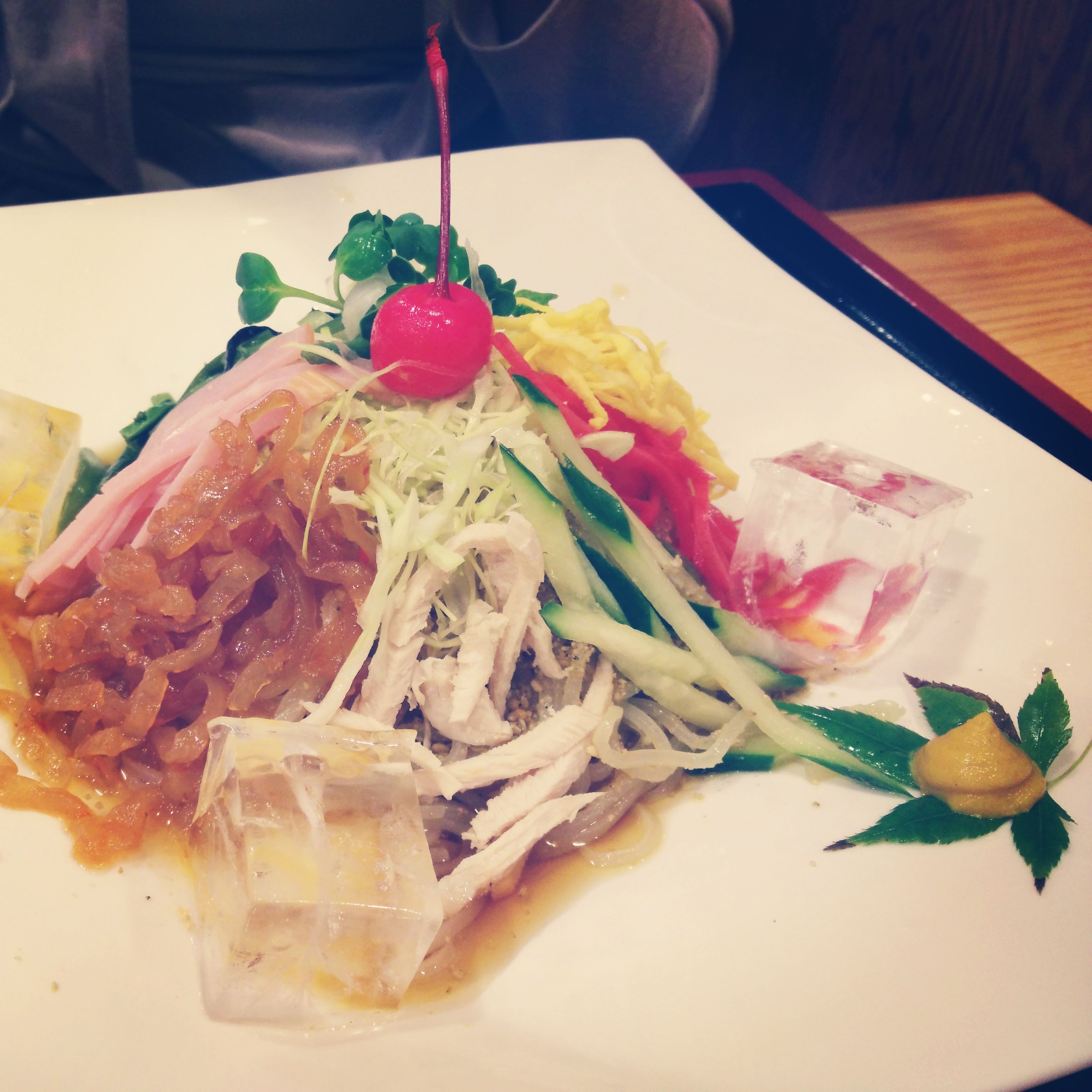 Hiyashi Chyuuka - cold noodles with vegetables, seafood, and ham. Perfect for those warm days.