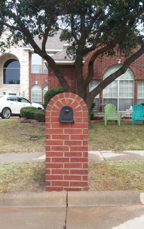 Round Top Small Garden Design Brick Repair Custom Mailboxes