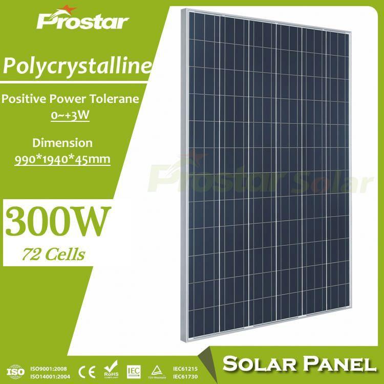 Prostar Best Price Poly 24v 310w 300 W Solar Panelon Roof For House Solar Panels Best Solar Panels Solar