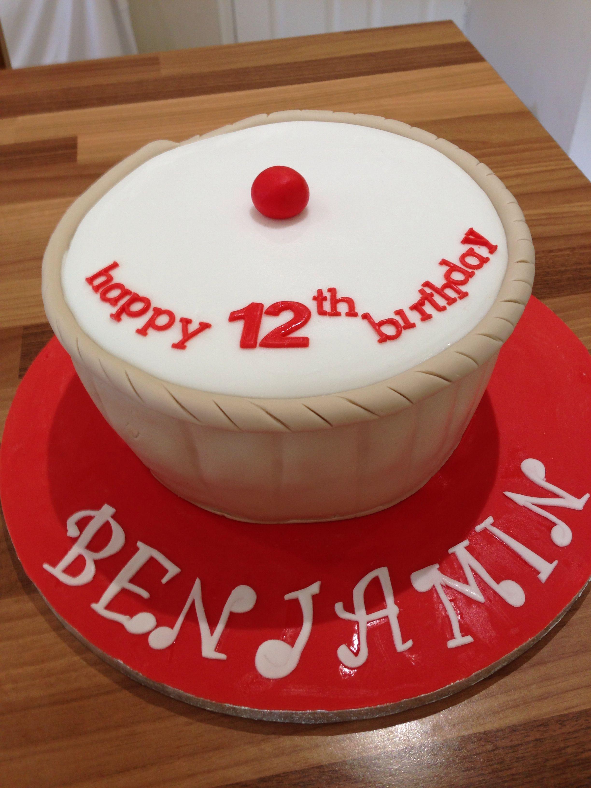 Awe Inspiring Giant Cherry Bakewell Cake Cake Cherry Bakewell Cake Bakewell Cake Personalised Birthday Cards Sponlily Jamesorg