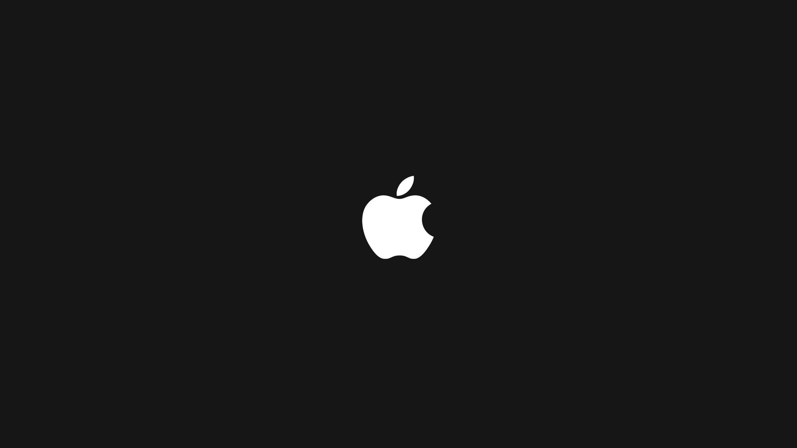 Awesome Black And White Apple Logo Wallpaper Di 2020 Seni