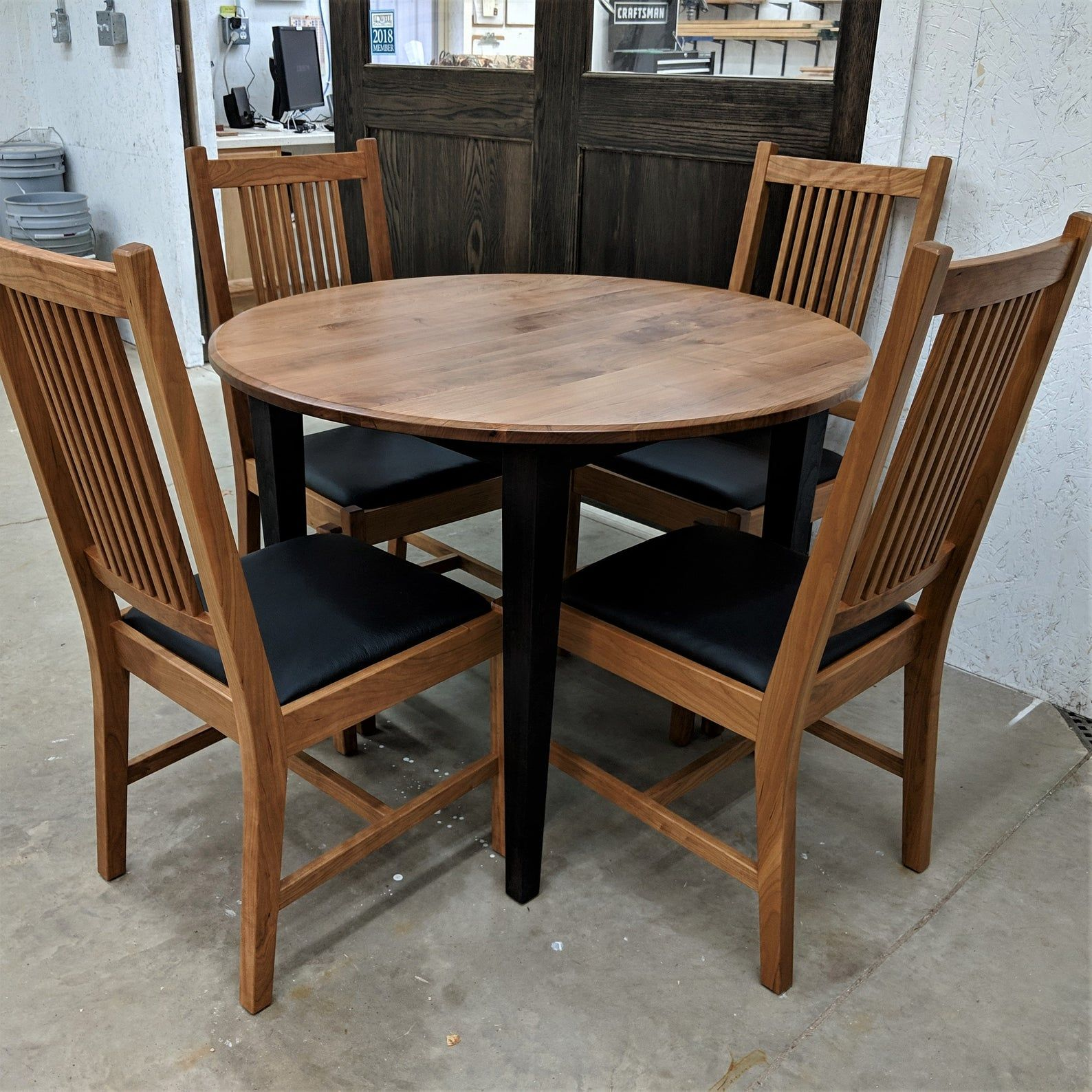 Solid Cherry Extension Dining Table Etsy Extension Dining Table Small Apartment Size Round Extension Table