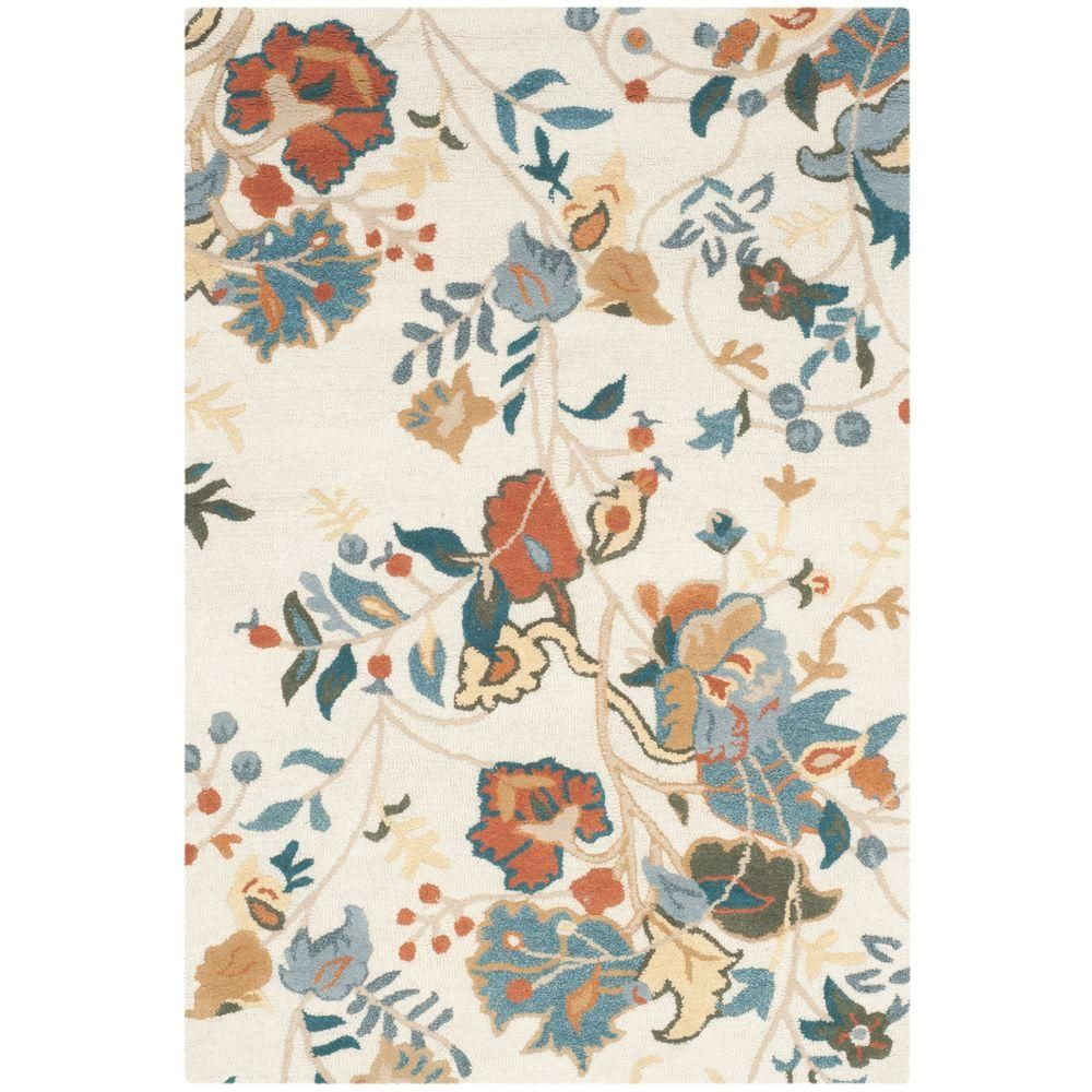 Blossom Red Blue Multi 3 ft. x 5 ft. Area Rug