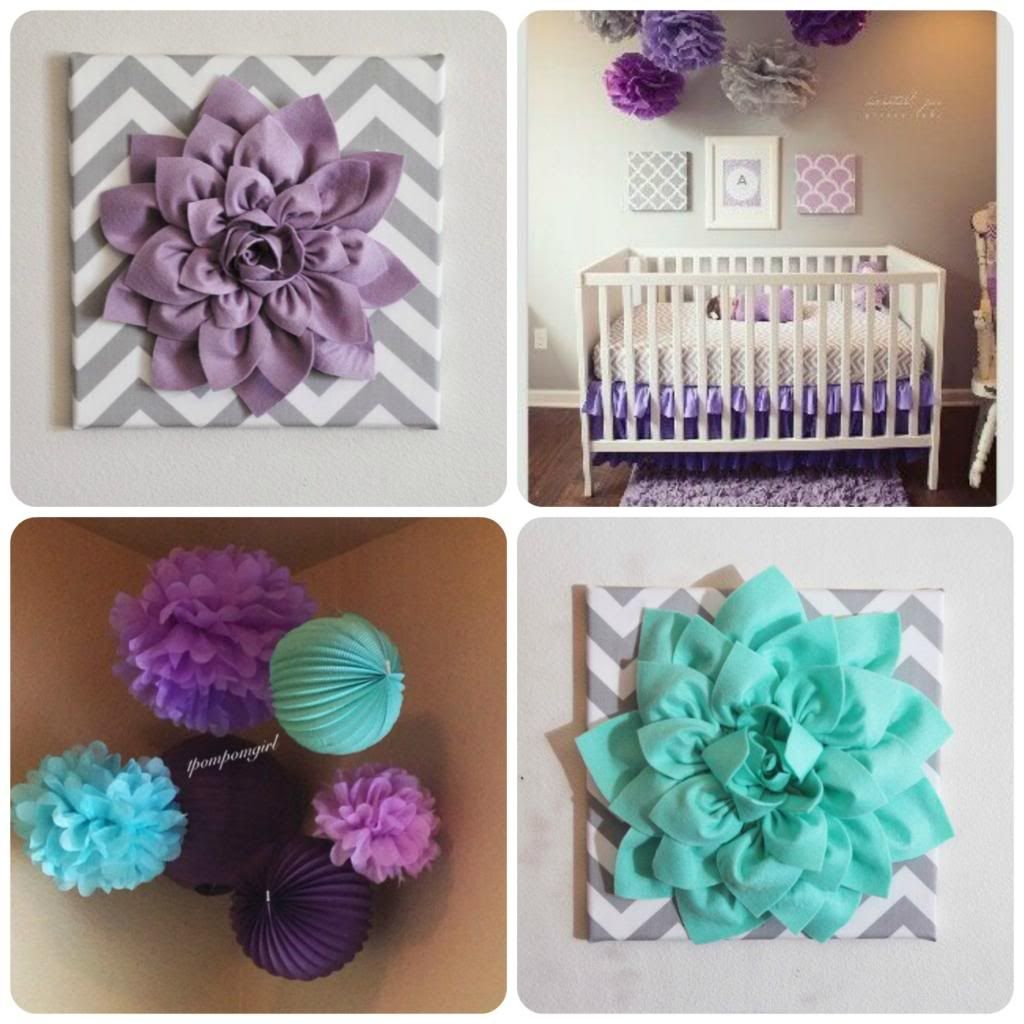 Purple Turquoise And Gray Nursery Bella88 Bria Smommy