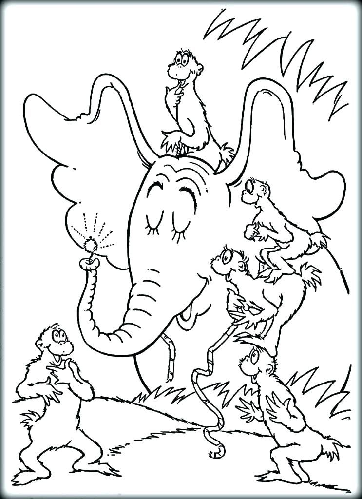Horton Dr Seuss Coloring Pages Coloring Pages To Print Cool