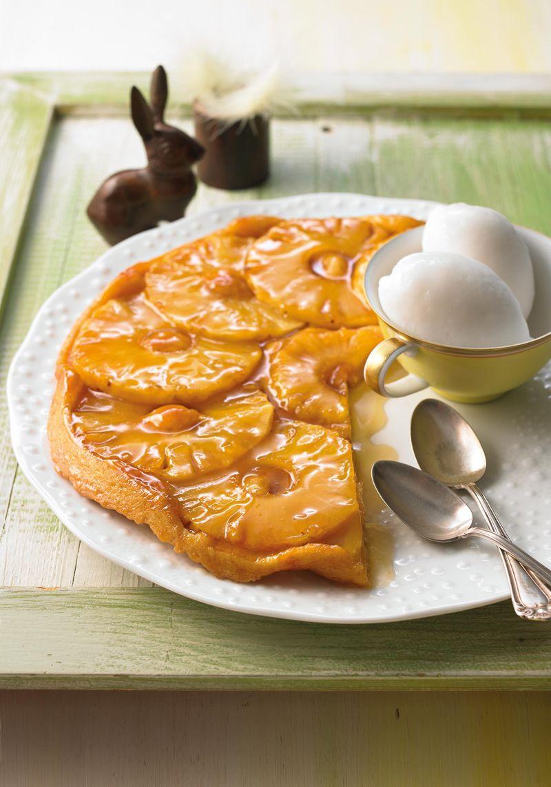Ananas Tarte Tatin Rezept Es Lebe Karamell Kuchen Karamell