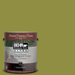 BEHR Premium Plus Ultra 1 Gal. #PPU9 3 Retro Avocado Eggshell Enamel  Interior Paint 275301 At The Home Depot