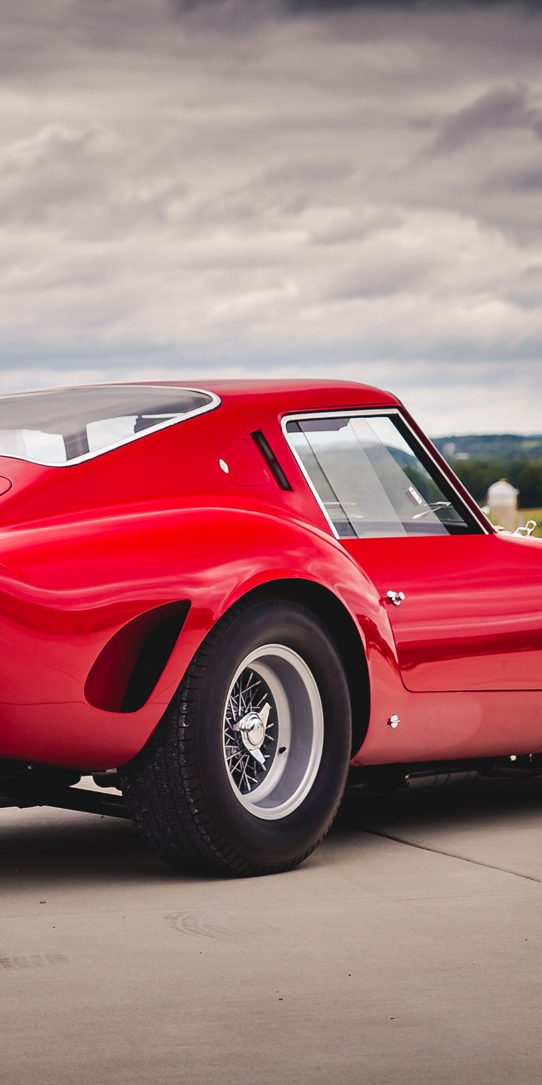 1080x2160 Ferrari 250 Gto Classic Sports Car Red Car Wallpaper