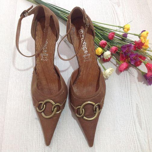 Zapatos Piel canela - Chicfy  97bca74dcfc0