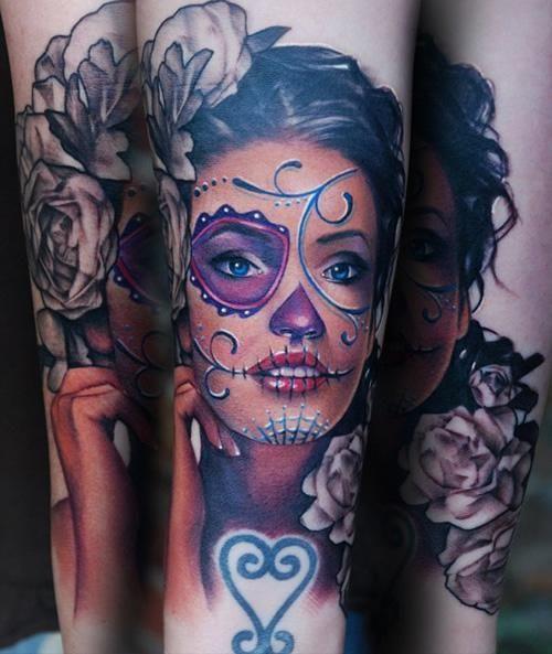 sexy sugar skull tattoo tattoos and tattoo designs catrina pinterest sugar skull girl. Black Bedroom Furniture Sets. Home Design Ideas