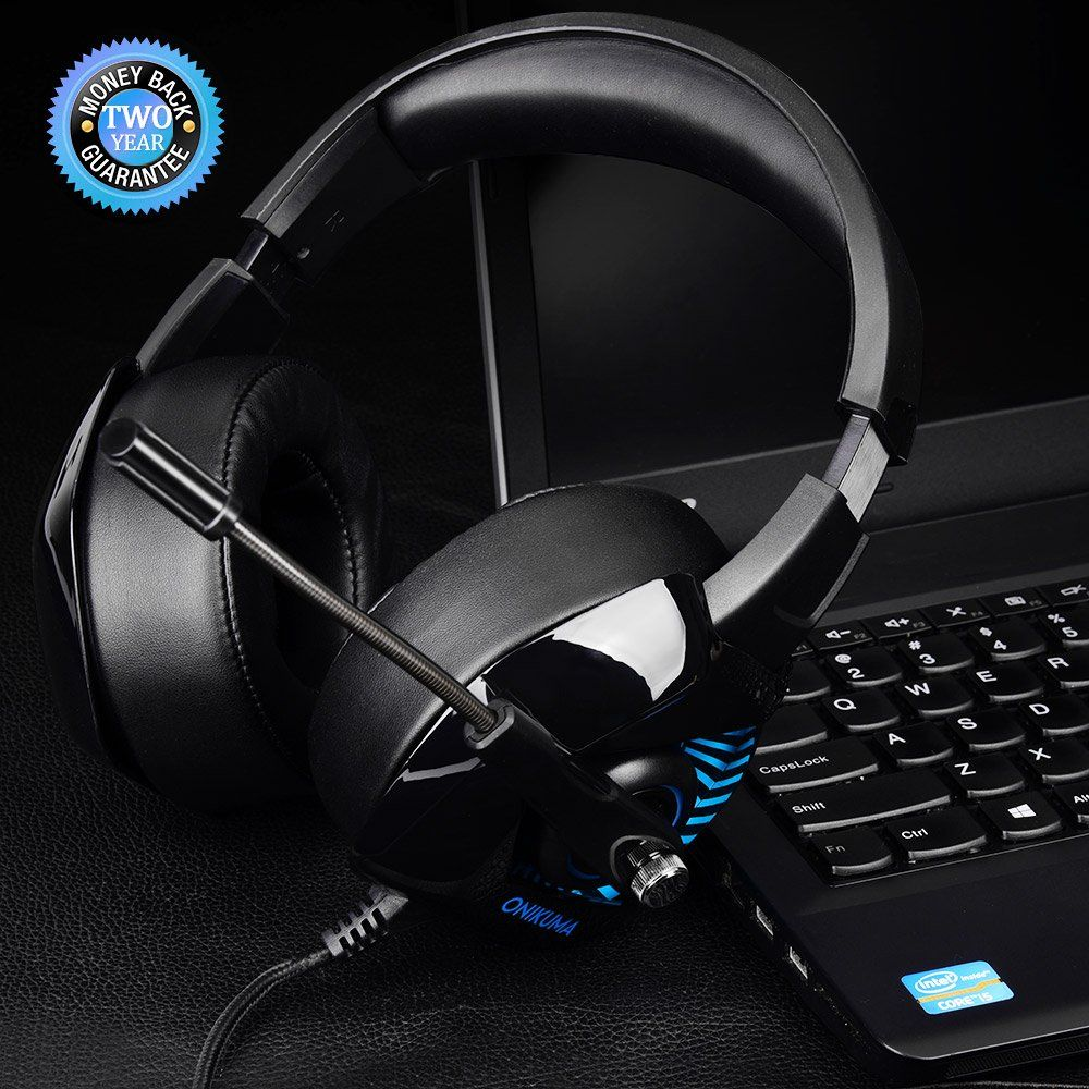 ONIKUMA II Gaming Headset for PS4, PC, Xbox One, Stereo