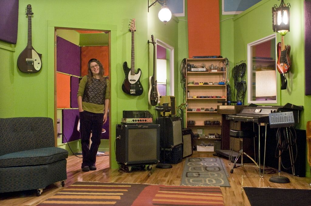 eclectic music room in a garage Music room Pinterest Music