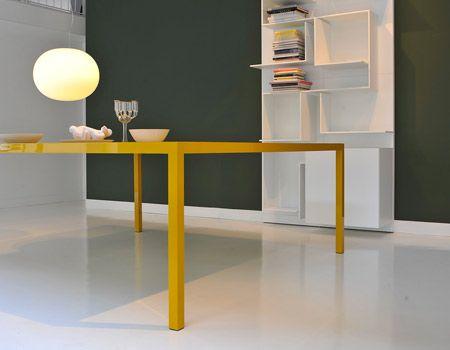 Mdf sedie ~ Tavolo in alluminio e cristallo temperato colors mdf italia