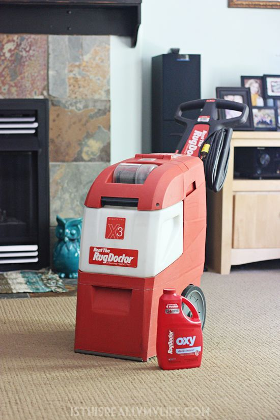 Rug Doctor review -- Renting a Rug Doctor is our favorite way to get our family room clean. It is quick and easy and does a great job. The proof is in the water reclaim tank. | isthisreallymylife.com #StayClean2016 #RugDoctorDifference #ad