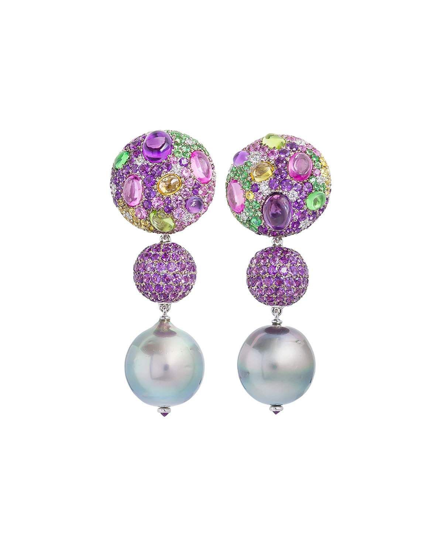 47a552919 Margot Mckinney Jewelry Cookie Mixed Sapphire & Pearl Drop Earrings ...