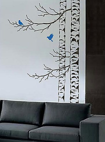 Beautiful Birches 5 Pc Kit Large Tree Stencils Tree Stencil