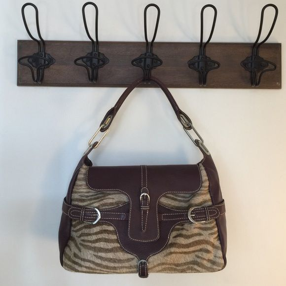 Jimmy Choo Handbag Beautiful Animal Print On Cowhide Excellent Used Condition No Trade