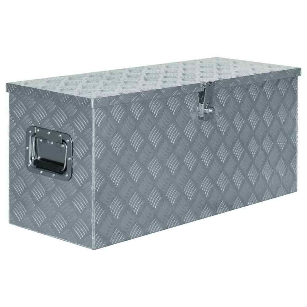 Vidaxl Boite En Aluminium Argente Outils Caisse De Rangement Coffre A Outils Caisse Rangement Boite Aluminium Coffre