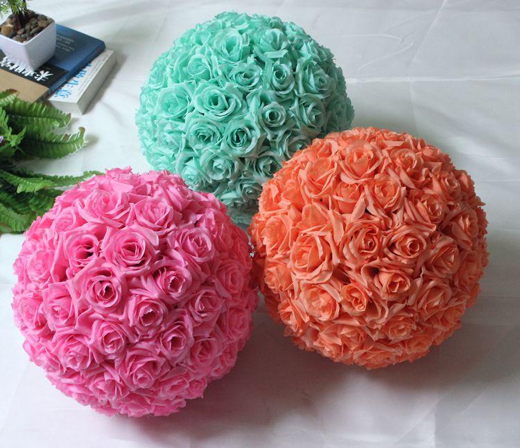 Pas Cher 12 30 Cm Fleur Boule De Soie Maitresses De Mariage