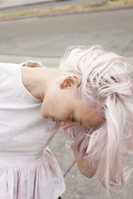 Platinum Blond Meets Metallic Silver Pink With Images Pink